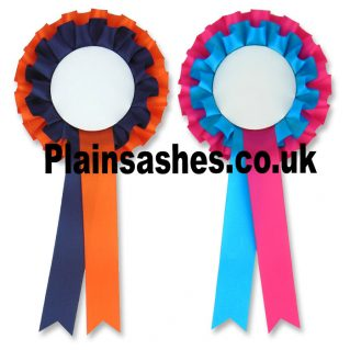 custom colour blank rosettes