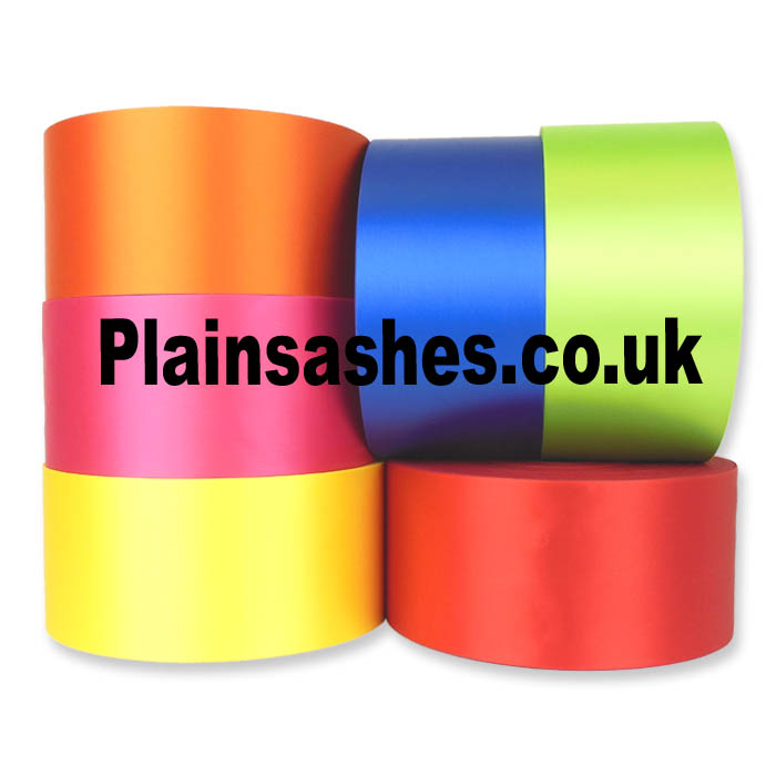 wide sash ribbon